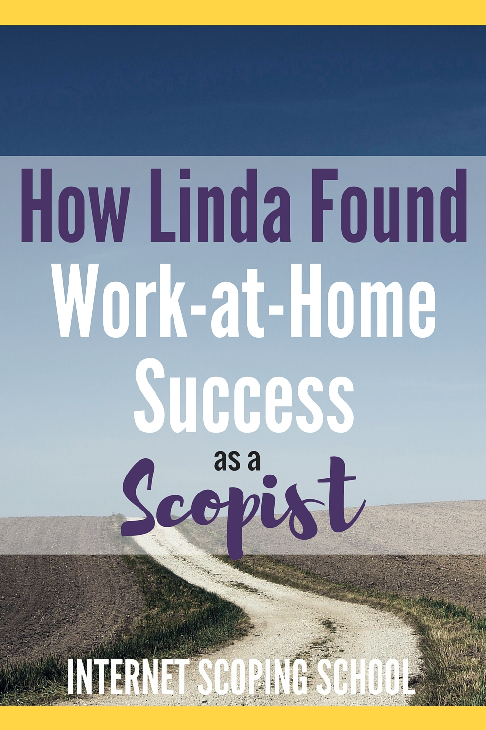 How Linda work-at-home success scoping from home!